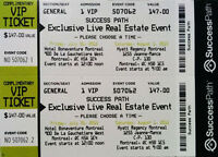 2 Ticket VIP SUCCESS PATH Tarek Christina Flip or Flop