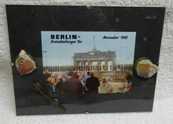 ** Vintage - GENUINE Pieces of BERLIN WALL, BARBED Wire & Picture #2 - FRAMED