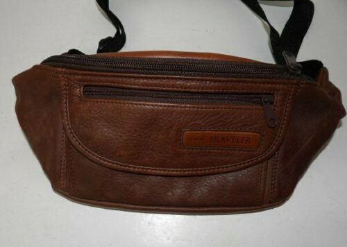 Vintage LL Bean Waist Fanny Pack Unisex Brown Leather  Clean