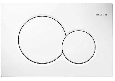Geberit 115.770.11.5 Sigma01 Dual Flush Actuator Plate, Alpine White