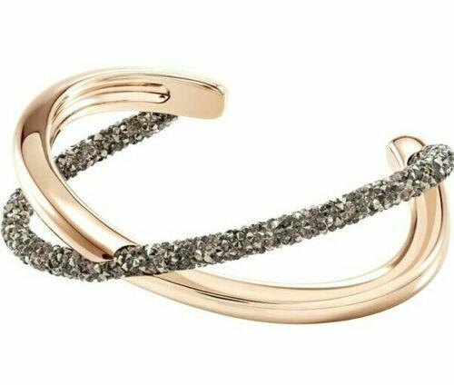 Swarovski Crystaldust Cross Cuff Multi Color Rose Gold Plating M 5291198 no  box