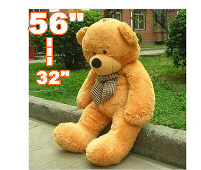 "Big Huge Giant 32""--56""Stuffed Plush Teddy Bear Toy Animal Doll light brown/gift"