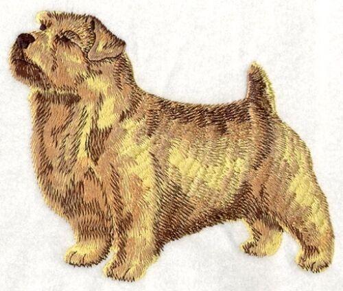 Embroidered Short-Sleeved T-Shirt - Norfolk Terrier I1191 Sizes S - XXL