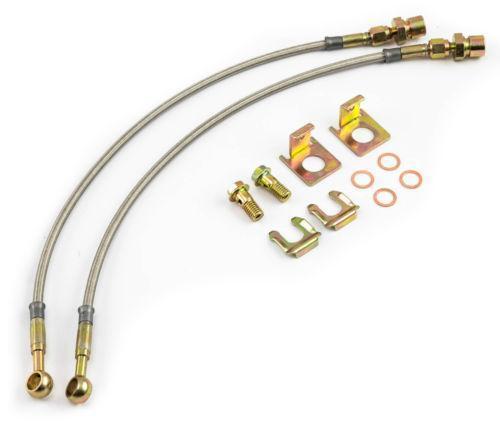 Stainless Steel Flexible Brake Lines : Stainless braided brake lines ebay