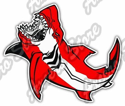 Shark Scuba Diving Dive Flag Deep Sea Ocean Car Bumper Vinyl Sticker Decal 5