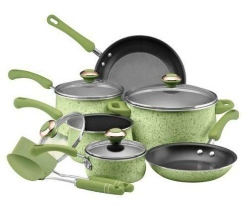 Adding earthy style and color to the kitchen, the Rachael Ray Cucina Hard Enamel Nonstick Piece Cookware Set features saucepans, skillets and more for creating delicious, memorable meals.