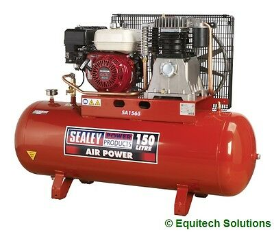 Sealey Tools SA1565 Petrol Air Compressor 150 Litre 150L 6.5HP Honda Engine New