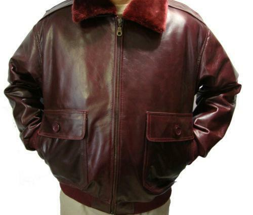 Mens burgundy leather jacket ebay
