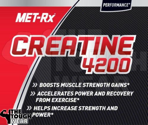 MET-Rx Creatine 4200 Dietary Supplement, 120 count