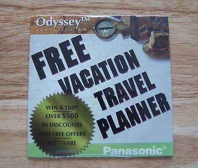 Vacation Travel Planner by Odyssey Interactive Vintage CD Software