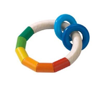Used, New HABA Kringelring Wooden Baby Teething Ring, Germany, clutching toy rattle for sale  Drexel