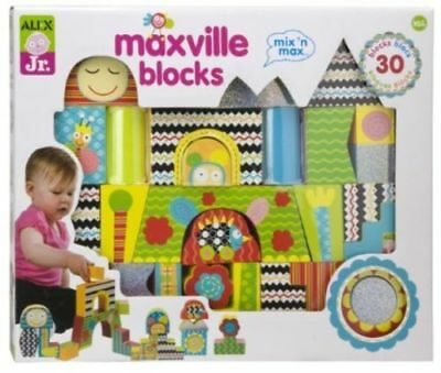 Alex Jr Maxville blocks Toys 30 blocks Age 10 months + Brand new