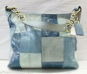 Coach Purse Blue Patchwork