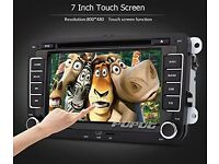 Double 2 din Stereo Car DVD KitKat system Radio Receiver GPS Navigation
