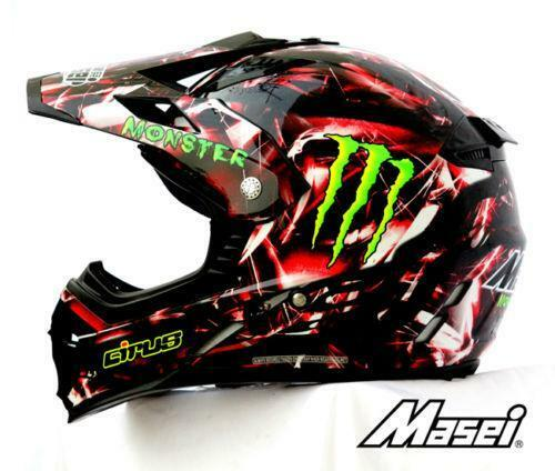 monster energy dirt bike helmet ebay. Black Bedroom Furniture Sets. Home Design Ideas
