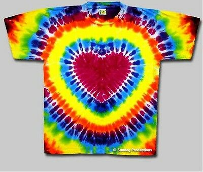 Heart Tie Dye Shirt - Size Large -  New, never been worn!! Won't fade or bleed!! ()