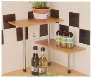 etagere range support rangement epices cuisine neuf bambou 78 ebay. Black Bedroom Furniture Sets. Home Design Ideas