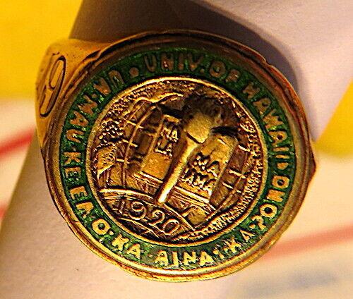 RARE 1928 UNIVERSITY OF HAWAII GRADUATION RING, 1928 UNIVERSITY OF HAWAII RING