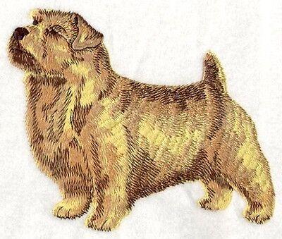 Embroidered Ladies Short-Sleeved T-Shirt - Norfolk Terrier I1191