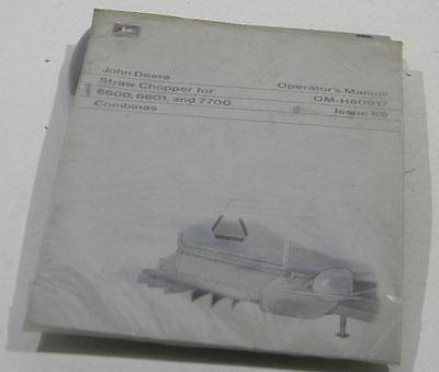 John Deere Dealer Operators Manual Straw Chopper