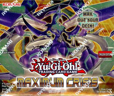Yu-Gi-Oh Maximum Crisis 1st Edition U.S English SEALED Booster Box Yugioh