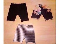 3 Assorted Child Girl's Stretchy Longer Length Shorts.Age 3 Years.