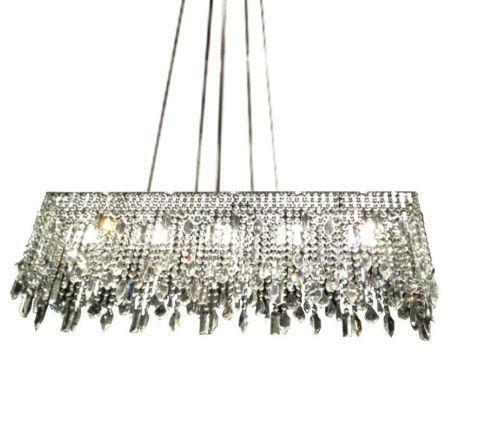 Z Gallerie Light Fixtures: Linear Crystal Chandelier