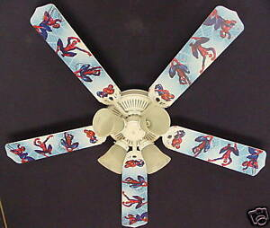 Spiderman ceiling fan ebay new spiderman marvel superhero ceiling fan 52 aloadofball Gallery