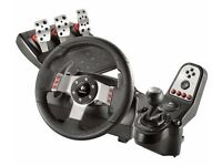 Lgitech G27 Steering Wheel, Pedals, Gear Shifter