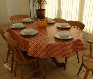 Good Oval PVC Tablecloth