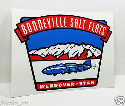 BONNEVILLE SALT FLATS UTAH Vintage Style DECAL, Vinyl STICKER, rat rod, hot rod - Bonneville Salt Flats