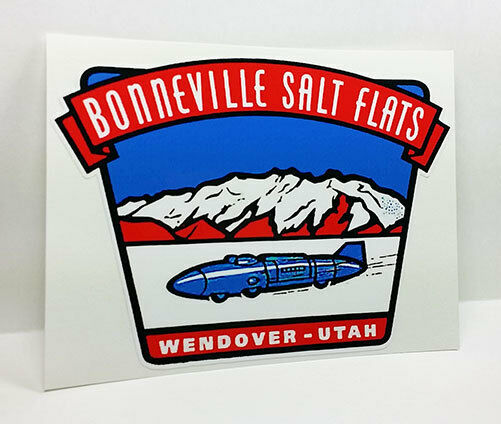 BONNEVILLE SALT FLATS UTAH Vintage Style DECAL, Vinyl STICKER, rat rod, hot rod