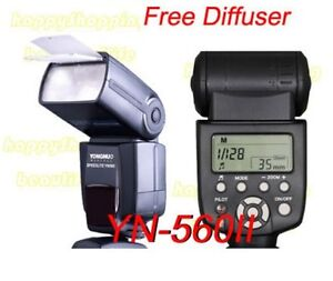 YN-560II Flash Speedlight For canon 450D 50D 60D Nikon D40 D60 D90 1100D D3100