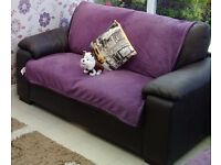 Brown leather leather sofas, office chair and Paris picture