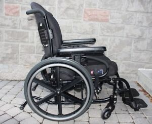 Quickie QXi Wheelchair 16 inch, foldable folding wheel chair for