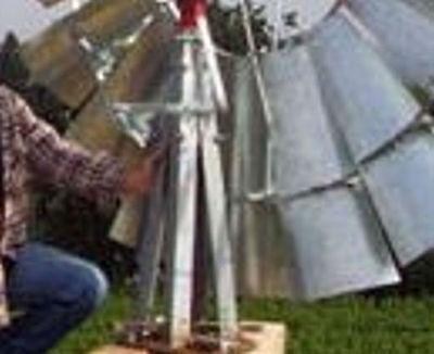 (Stub Tower w/ Mast Pipe & Lower Furl for B-702 Aermotor Style Windmill)