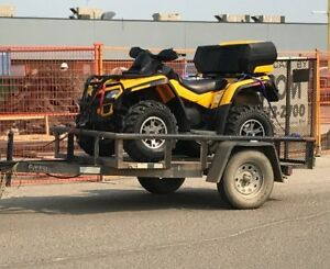 2009 can am outlander 800 and trailer
