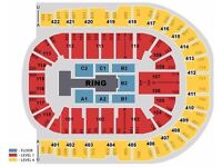WWE LIVE Tickets 2/4/6 GREAT SEATS Blk C2 row D o2 Arena London 7th Sept £260 a pair