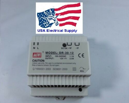 New Mean Well Replacement  PS-3012 DR-30-12 Industrial DIN Rail Power Supply 12V