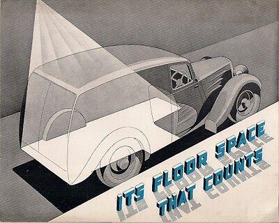Singer 9HP 5/7cwt Van 1938-39 UK Market Sales Brochure