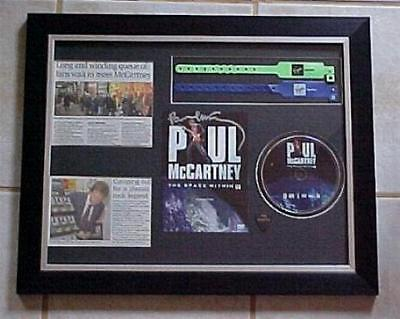 Beatles PAUL McCartney Signed SPACE WITHIN US DVD With 2  Wrist Bands