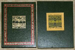 HOBBIT-Tolkien-COLLECTORS-EDITION-1st-ed-7th-Printing-LEATHER-HC-in-SLIPCASE