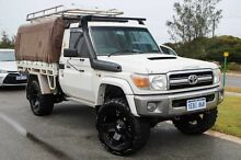 2008 Toyota Landcruiser VDJ79R GXL French Vanilla 5 Speed Manual Cab Chassis Mindarie Wanneroo Area Preview