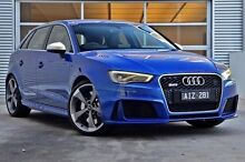 2016 Audi RS3 8V MY16 Sportback S tronic quattro Blue 7 Speed Sports Automatic Dual Clutch Hatchback Berwick Casey Area Preview