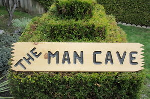 Wood Engraved Man Cave Sign