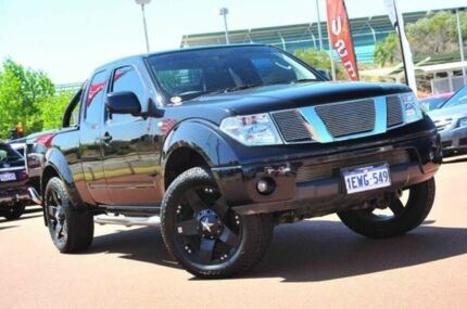 2012 Nissan Navara D40 S6 MY12 ST-X King Cab Black/Grey 6 Speed Manual Utility Glendalough Stirling Area Preview