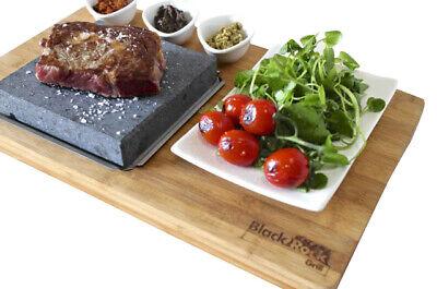 Caliente Piedra de Mesa Cocina Bistec En El Black Rock Grill Juego...