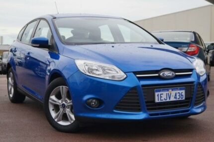 2013 Ford Focus LW MKII Trend PwrShift Blue 6 Speed Sports Automatic Dual Clutch Hatchback Wilson Canning Area Preview