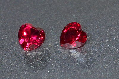 A Single Gorgeous 4mm IF Heart Cut Genuine Red Ruby!!!