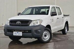 2008 Toyota Hilux TGN16R MY09 Workmate White 5 Speed Manual Utility Frankston Frankston Area Preview